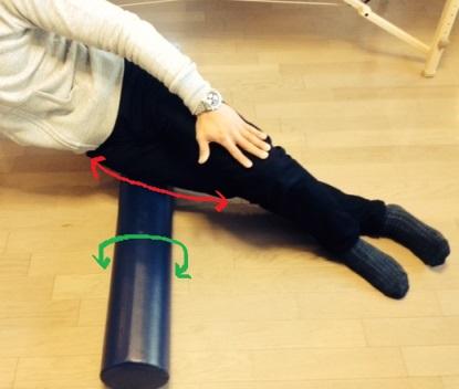 ストレッチポールを利用した大腿筋膜張筋の筋膜リリース