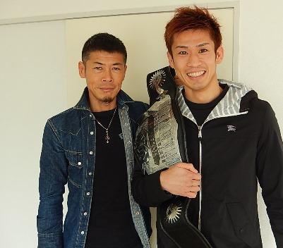 試合後久しぶりにストレッチベースに来店した前田浩喜選手