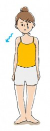 猫背の女性イメージイラスト