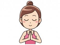 瞑想女性イラスト