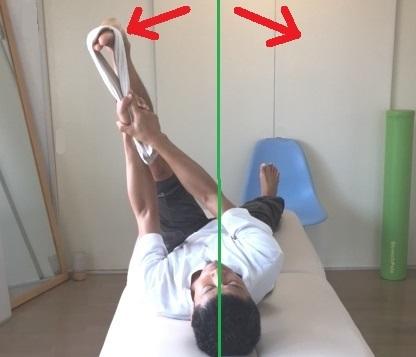 股関節を軸に足を左右に傾ける