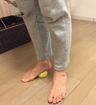 足裏の筋膜リリース